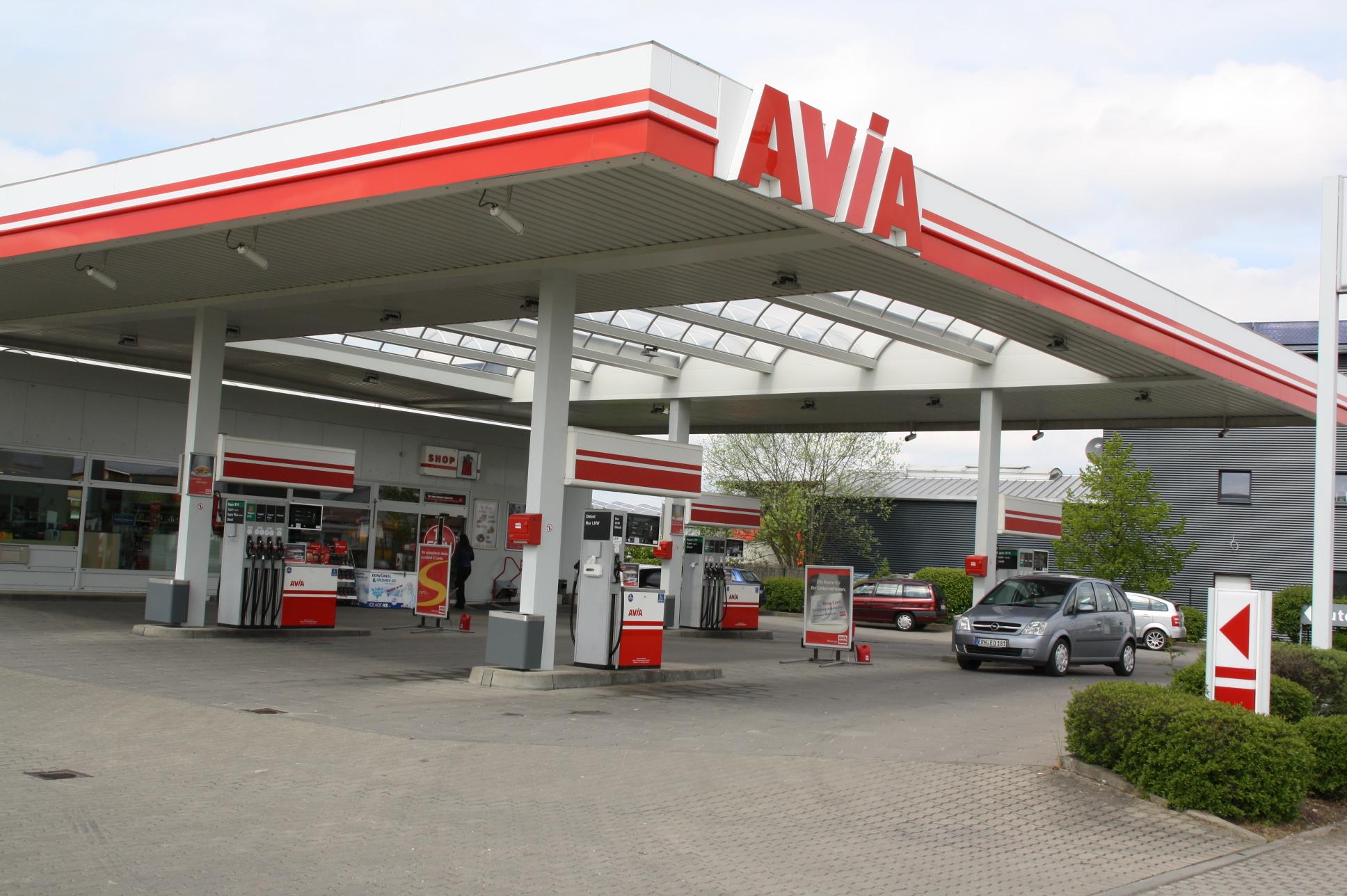 Die Avia-Tankstelle in Weisendorf wurde am Ostersonntagabend überfallen.