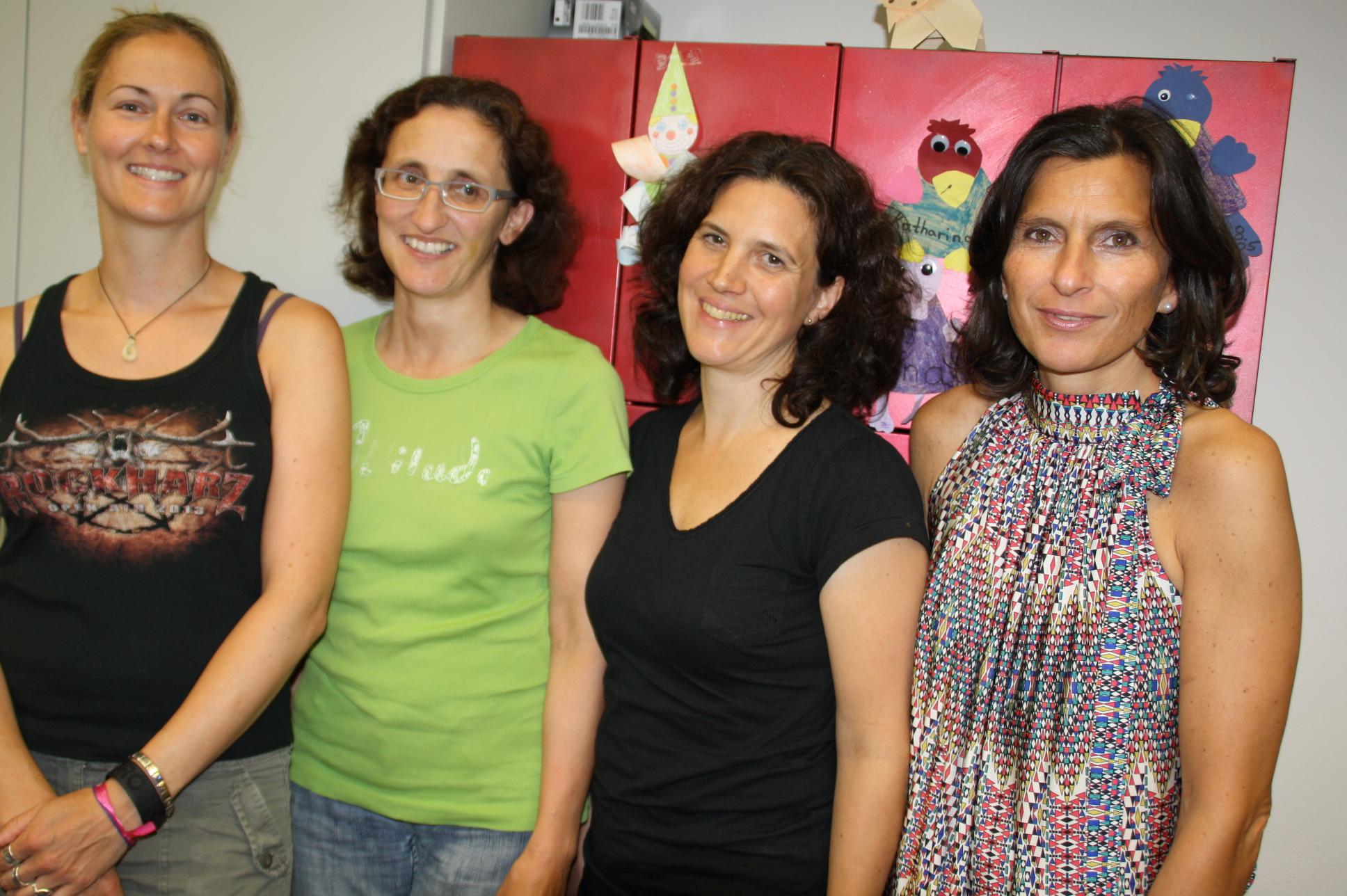 Die Vorstandschaft des Fördervereins (von links): Schatzmeisterin Christiane Ort, Beisitzerinnen Andrea Schick und Eva Preis, Protokollführerin Alexandra Ruck.