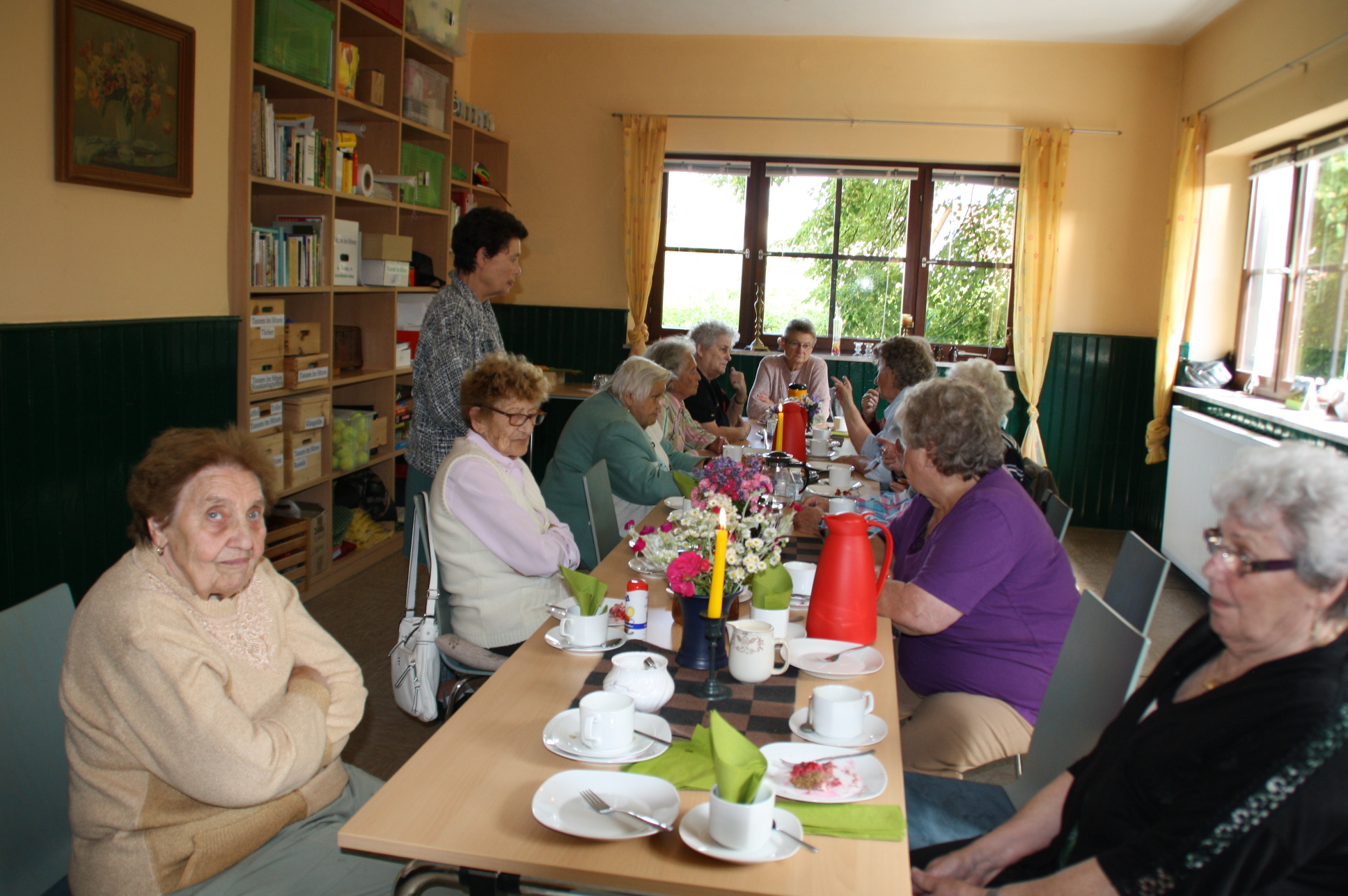 Das bisherige Domizil der Senioren im Mehrgenerationenhaus. Hier treffen sie sich zum Kaffee, Mittagessen, Gedächtnis- und Bewegungstraining.