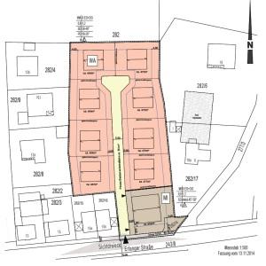 "So sieht der geänderte Bebauungsplan ""Am Kellerberg"" aus."