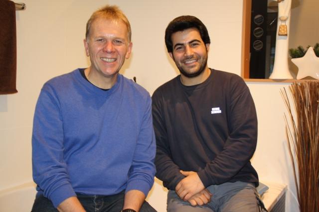 Lehrling Hossein und Johannes Seeberger