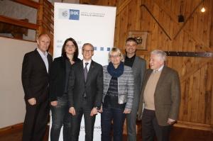 Die Vorstandschaft der IHK (von links): Adolf Wedel, Maria Prester (neu), Vorsitzender Oliver Brehm, Jutta Rost, Michael Thiem, Ehrenvorsitzender Hermann F. Weiler.