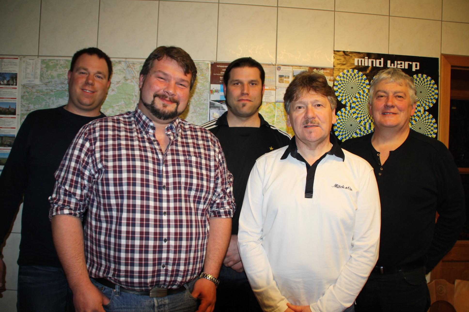 Die neu gewählte Vorstandschaft der Freien Wähler Weisendorf (von links): Jürgen Schenk, Stefan Groß, Christian Stark, Klaus Zink, Manfred Schmidt.