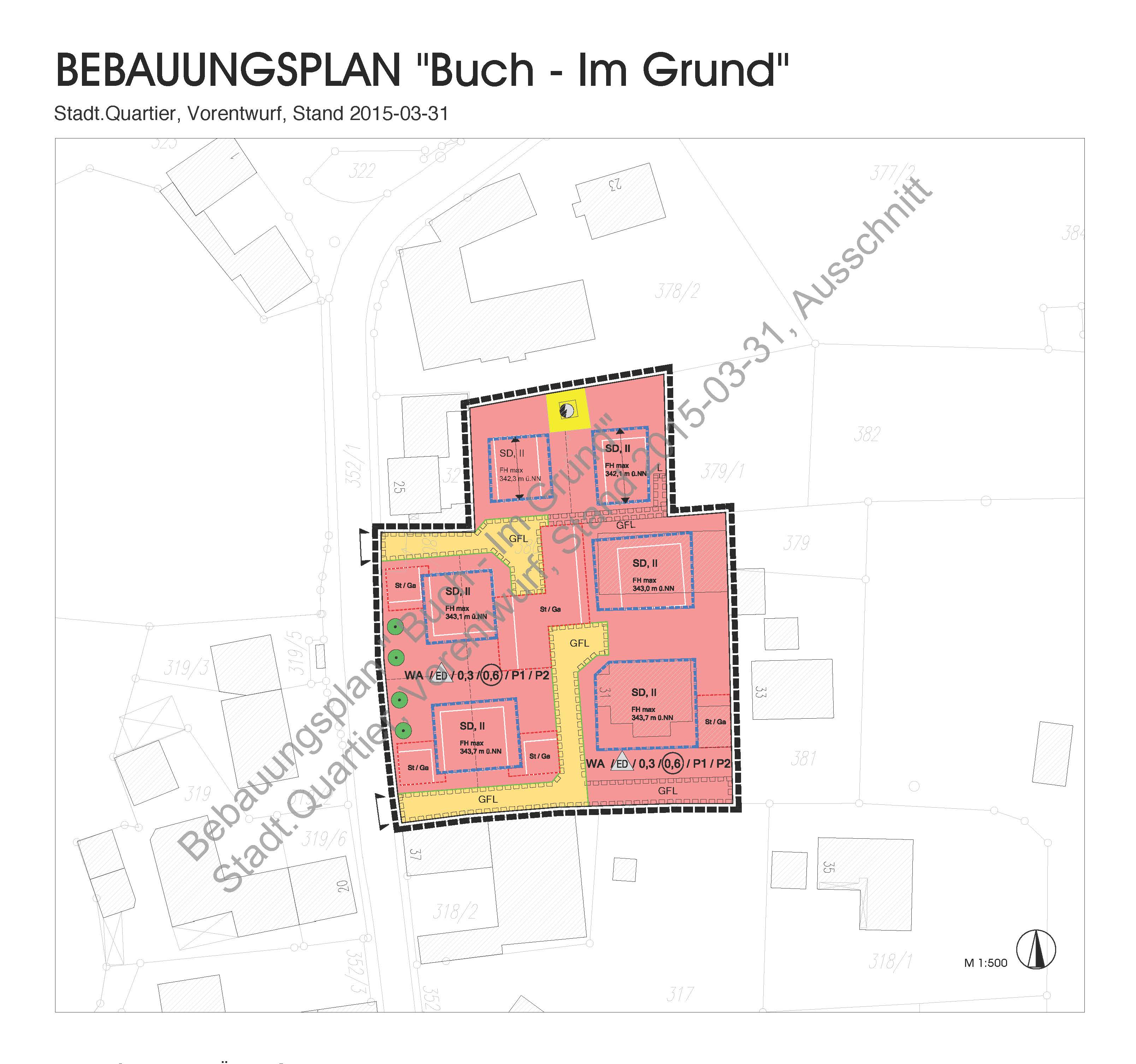 Inmitten des alten Ortskerns an der Dorfstraße sollen auf dem Standort des ehemaligen Gasthaus Süß mit landwirtschaftlichen Gebäuden einige, der Umgebung angepasste Wohnhäuser entstehen.