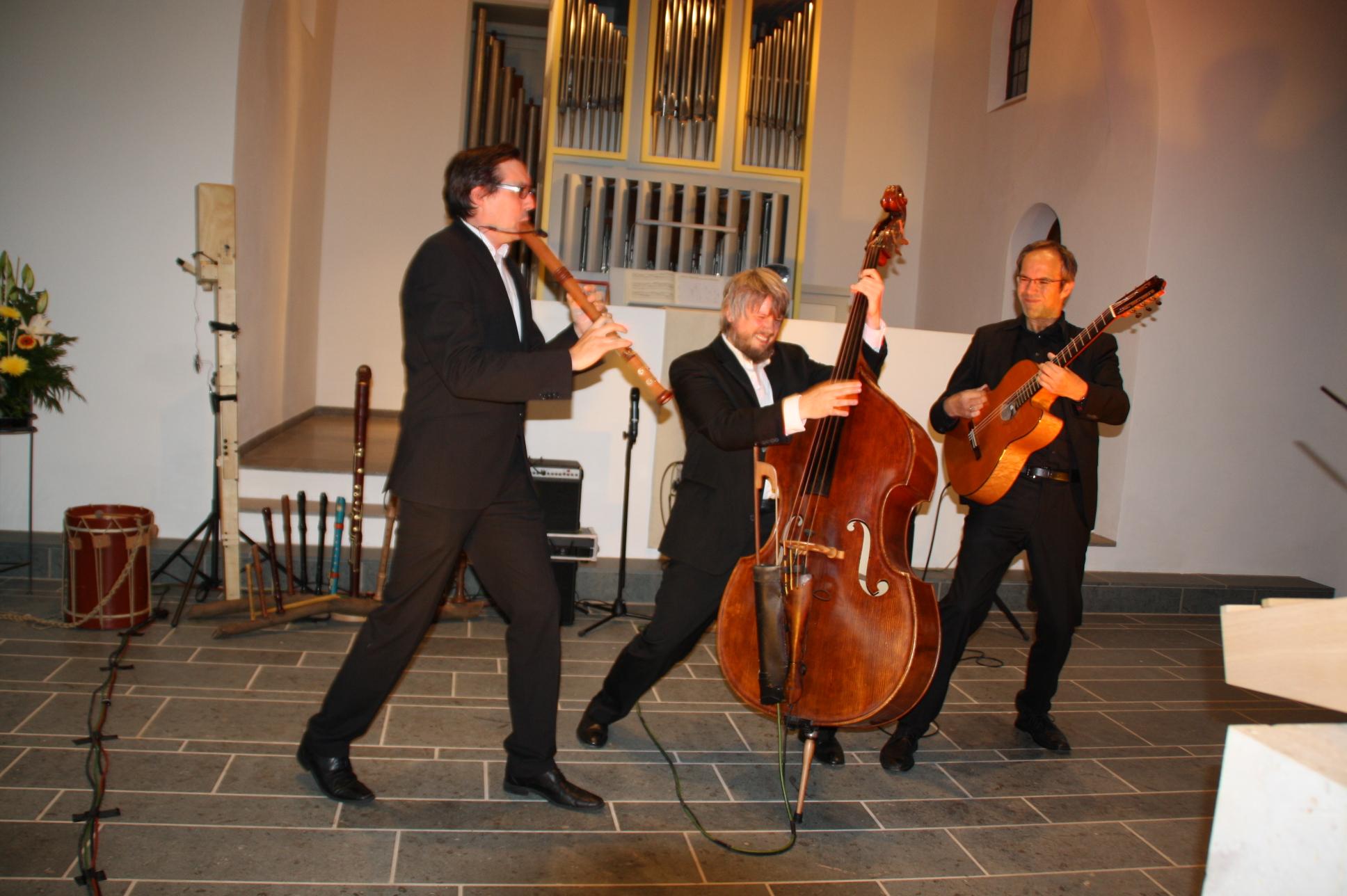 """Das Ensemble """"Wildes Holz"""" beim Konzert in Herzogenaurach."""