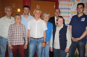 Sie gehen mit Engagement und Ideen in eine zweijährige Amtszeit: Das Team um Vorstand Walter Ferbar, 2. Vorstand Gerlinde Fröhlich, Kassier Edith Karlberger (vorne von links) sowie Schriftführer Dietmar Ströbel (hinten, Zweiter von links).