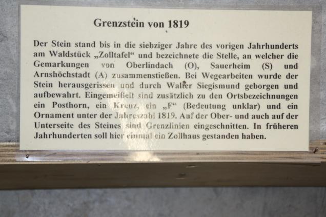 Auch ein alter Grenzstein von 1818 war zu sehen.