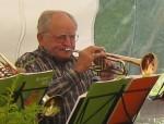 Gründungsmitglied Joachim Riedel war bis 1990 Chorleiter und ist letzter noch aktiver Bläser seit Gründung.