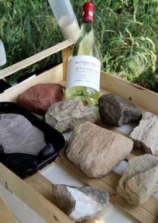 Beim Geschmack des Weins kommt es auf die Sonnenlage und auf das Gestein an, auf dem er wächst.