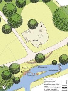 Die Planungen für den Wasserbereich im neuen Schlossgarten.