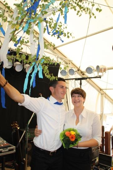 Katrin und Tim, das glückliche Siegerpaar.