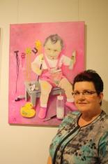 Ein Selbstporträt nach einem Kinderfoto, das den späteren Weg der Künstlerin dokumentiert